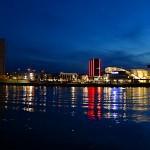 Mannheim in the evening light.